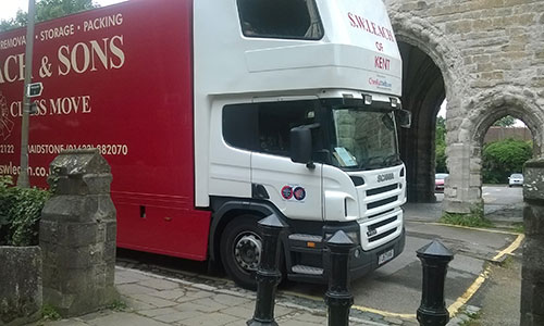 our removals truck at service