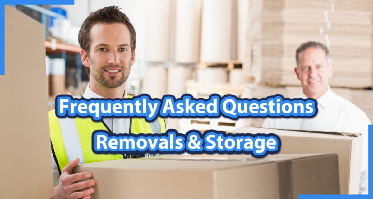 frequently asked questions from removals and storage clients